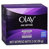 Olay エイジディファイングアンチリンクルリプレナイトクリーム2オンス(4パック) 4パック