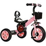 Kids' Tricycles Kids Tricycle Reinforced Carbon Steel Frame Pneumatic Tire Load Weight 25Kg 1-6 Years Old Birthday Kids Gift Toddler Trike Available,c