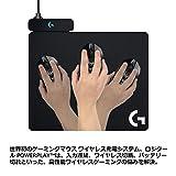 Logicool G ゲーミングマウスパット G-PMP-001 ブラック ハート クロス マウスパット同梱 G502WL/G-PPD-002WL/G903h/G903/G703h/G703d ワイヤレス充電対応 POWERPLAY 国内正規品 2年間メーカー保証 画像