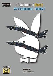 ウルフパックデザイン 1/72 F-14A トムキャット パート 1 VX-4 Evaluators Vandy 1 (1/72 アカデミー用) プラモデル用デカール WOLWD72009