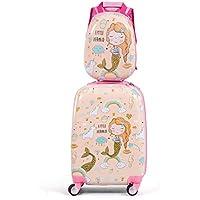 Kids Luggage Set 12'' Backpack 18'' Suitcase Children Boys Girls Travel School Trolley Case (Light Pink) zhaoyun (Color : Light Pink)