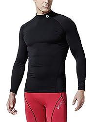 (テスラ)TESLA 長袖ハイネック スポーツシャツ [UVカット・吸汗速乾] コンプレッションウェア パワーストレッチ アンダーウェア・T11