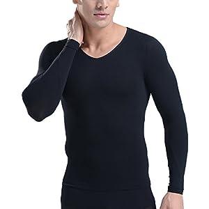 筋肉革命 コンプレッションウェア 加圧シャツ 長袖 加圧インナー メンズ お腹引締め 3枚セット Mサイズ ブラック kaatulongtM黒3