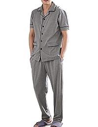 (パーキスボビー) Perkisboby パジャマ メンズ 半袖 綿100% 春?夏 ルームウェア 紳士 ポケット付 便利服 部屋着 無地 コットン 上下セット シルクパジャマ オシャレ 気持ち良い 2カラー