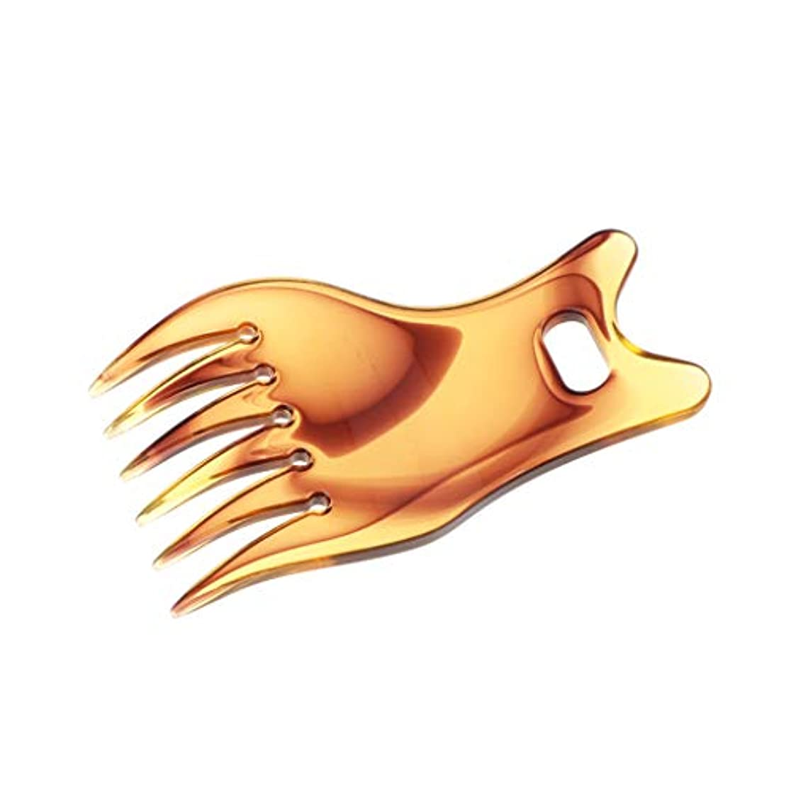 市長豆腐感じヘアコーム ピックコーム 広い歯 サロン 理容 染料 理髪 ヘアスタイリング 帯電防止 耐熱性 - 褐色