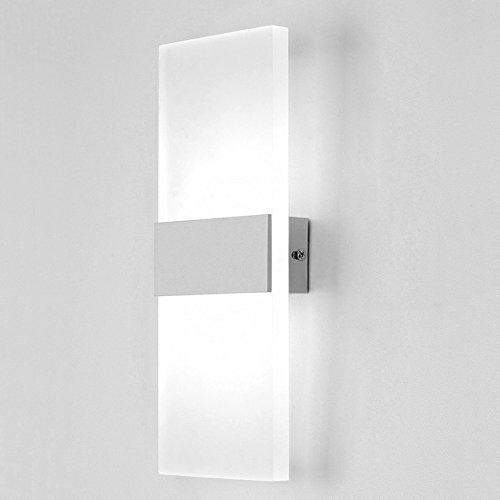 LIGHTESS LEDウォールライト 室内インテリア照明 壁掛け照明 led ブラケットライト 壁取り付け用ライト ベッドサイドランプ 高輝度 廊下・寝室・階段などの照明 6W (ホワイト)