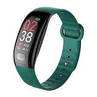 スマートウォッチスマートブレスレットECG心拍数血圧モニタリングデータ分析リモートケアスポーツブレスレットアンドロイドとIOSに適して (色 : Green)