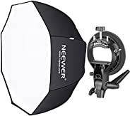 Neewer 32 inches/80 Centimeters Octagonal Softbox with S-Type Bracket Holder (with Bowens Mount) and Carrying