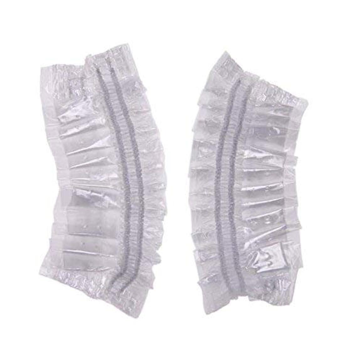 タップ定義圧縮されたSimg イヤーキャップ 使い捨て 簡単 装着 透明 毛染め