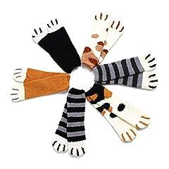 もこもこ靴下 CLOUSPO もこもこソックス レディース ルームソックス 暖かい 厚いソックス 防寒 保温 ネコソックス 厚手 ふわふわ 就寝 睡眠用 4足・6足組 (6足組)