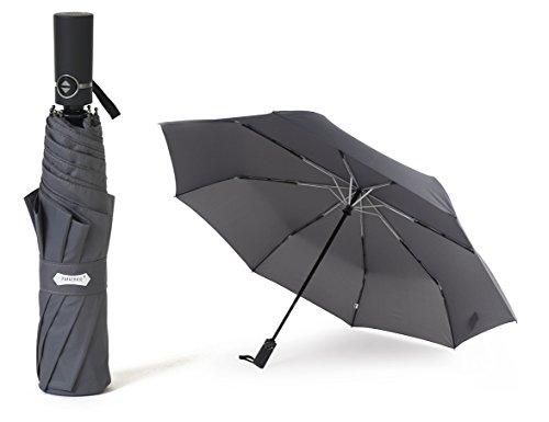 PARACHASE 折りたたみ傘 自動開閉 折り畳み傘 超大型 耐風 ワンタッチ メンズ 撥水 グラスファイバー おしゃれ 8本骨 70cm 二人用可能 直径123cm 日本国内品質保証 (K4-グレー)