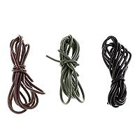 リグのチューブ シリコーンチューブ コイ釣り タックルアクセサリー 1m 3本入り 3色