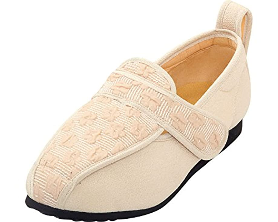 兵士到着する貧困彩彩~ジャガード~ 両足 婦人用 26.0cm ベージュ W902 (マリアンヌ製靴) (シューズ)(返品不可)