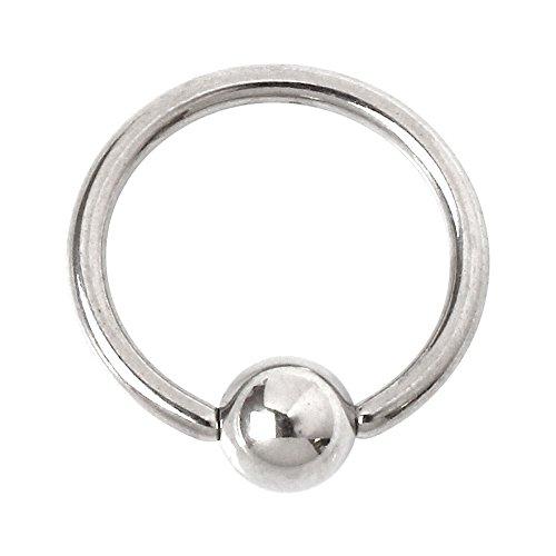 [해외]바디 피어싱 18G 16G 14G 포로 구슬 반지 심플 사지 카루 (1 개 판매)/Body piercing 18G 16G 14G Captive bead ring Simple surgical stainless steel (1 piece for sale)