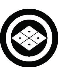 家紋シール 丸に四つ目菱紋 布タイプ 直径40mm 6枚セット NS4-0607
