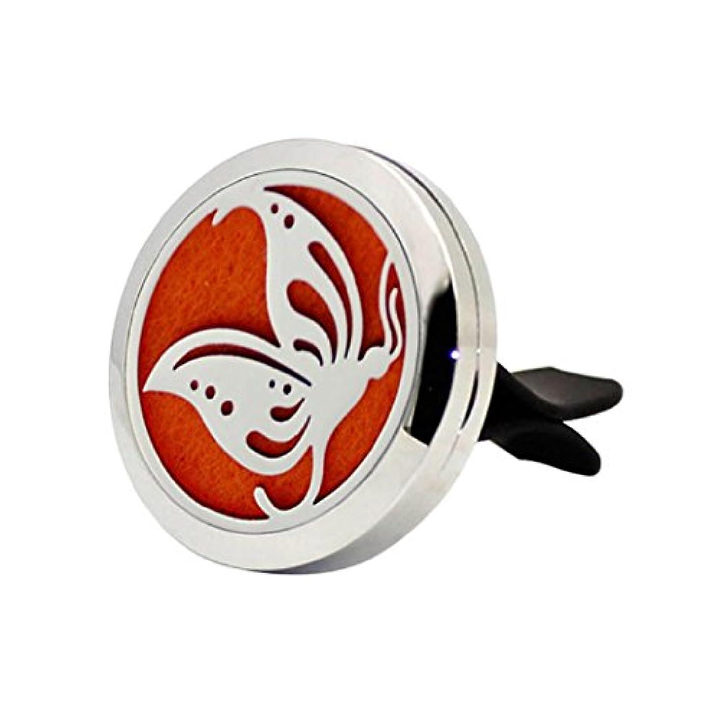 プット着飾るタンザニアcoohole新しいステンレス車自動Vent Air Freshener Mini Essential Oil Diffuser Giftロケット自動車装飾