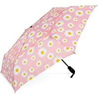 ShedRain WindPro Vented Auto Open Auto Close Compact Wind Umbrella: Daisy Bell Floral