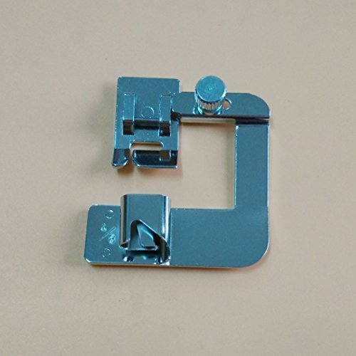HONEYSEW Snap On Adjustable Rolled Hemmer Foot Choose 1,1/2 or 3/4 For Singer Brother Babylock Juki Janome (1/2hemmer foot) by HONEYSEW