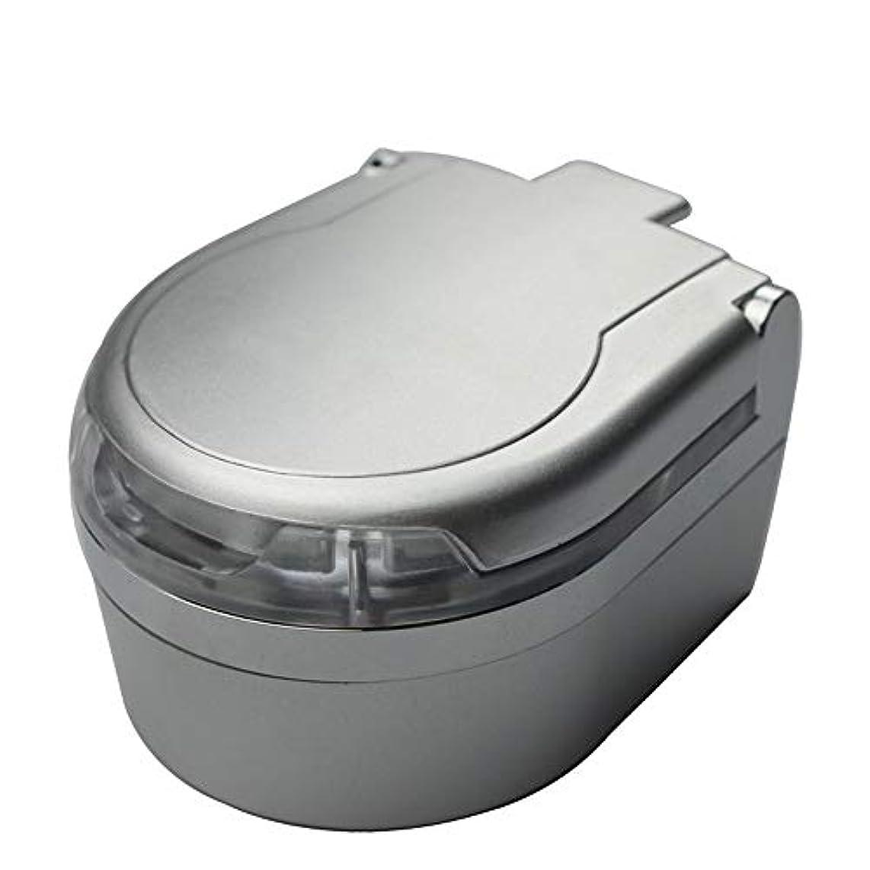 七時半早くホイストふた付き3色オプションの車の灰皿クリエイティブ屋外灰皿 (色 : 銀)