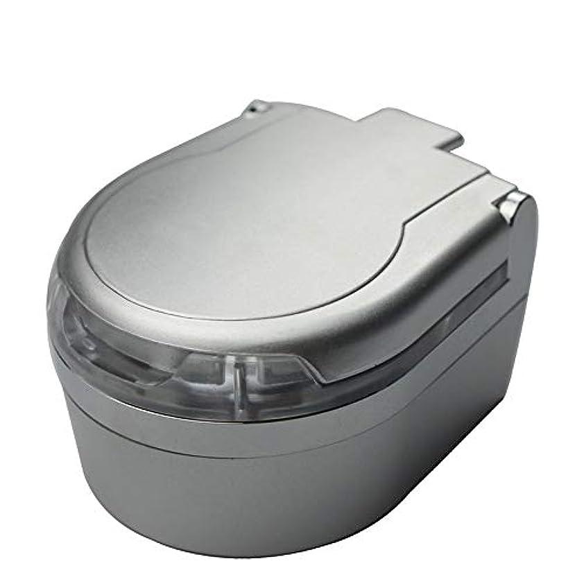 プロポーショナルチョップ暴動ふた付き3色オプションの車の灰皿クリエイティブ屋外灰皿 (色 : 銀)