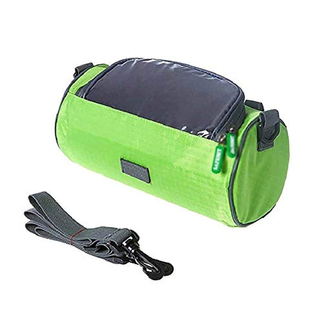きつくプログレッシブ権限大型自転車バッグハンドルバーフロントチューブ防水自転車電話バッグタッチスクリーンパック用学生女性女の子サイクリングアクセサリー (Color : Green)