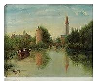 Auguste Herbin 伸びた ジクレー キャンバスに印刷-有名な絵画 美術品 ポスター -再生 壁の装飾 ハングする準備ができて(ブルージュのラブレイク) #NK