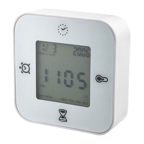 IKEA(イケア) KLOCKIS 時計 温度計 アラーム タイマー ホワイ...