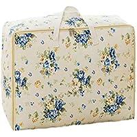 綿のリネン収納袋の花柄高品質のポータブル防湿トラベルオーガナイザー羽毛布団の掛け布団仕上げ荷物収納袋 (サイズ さいず : 40 * 49 * 29cm)
