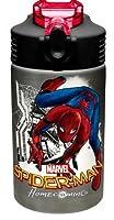 スパイダーマン ステンレススチール ウォーターボトル 子供用 マーベルコミック 15オンス ステンレススチールウォーターボトル。