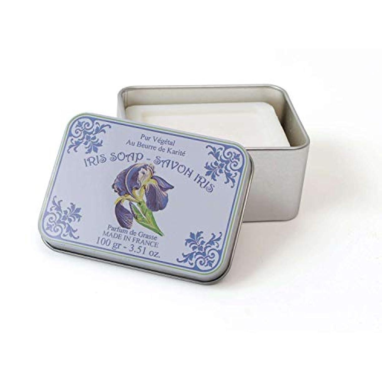 紫の適格にじみ出るLe Blanc ルブランソープ アイリスの香り