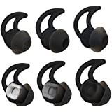 ALXCD Ear Tips for Bose SoundSport Free Headphone, S/M/L 3 Pair Soft Silicone Earbud Tips, Fit for Bose Quietcontrol 30 QC30 Sound Sport Free Headphone(Black