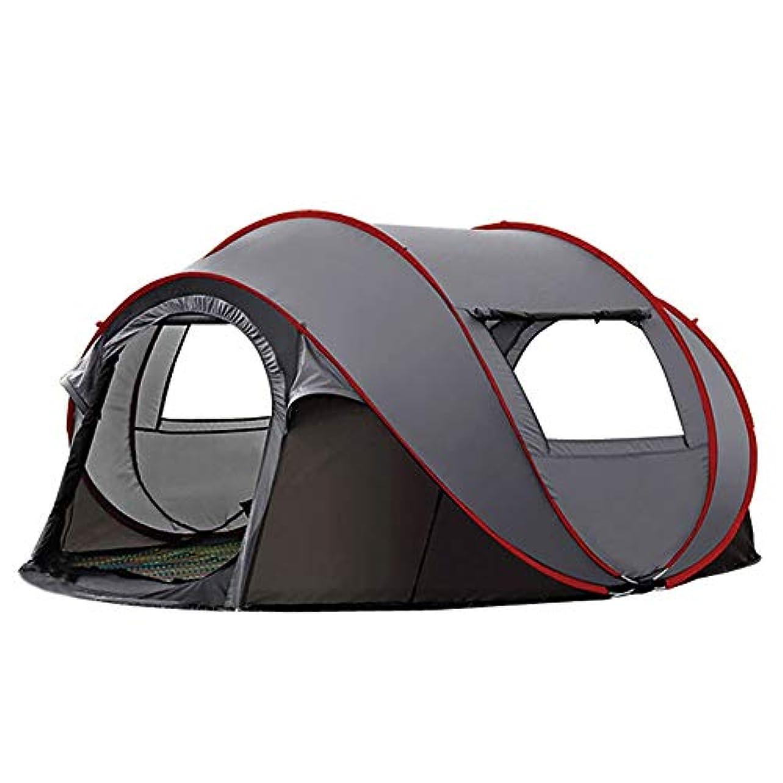 穏やかな補正浪費XBRキャンプテント高級テント屋外キャンプ独立スペース4-6人多機能自動クイックオープンビッグテントキャンプビーチパーク