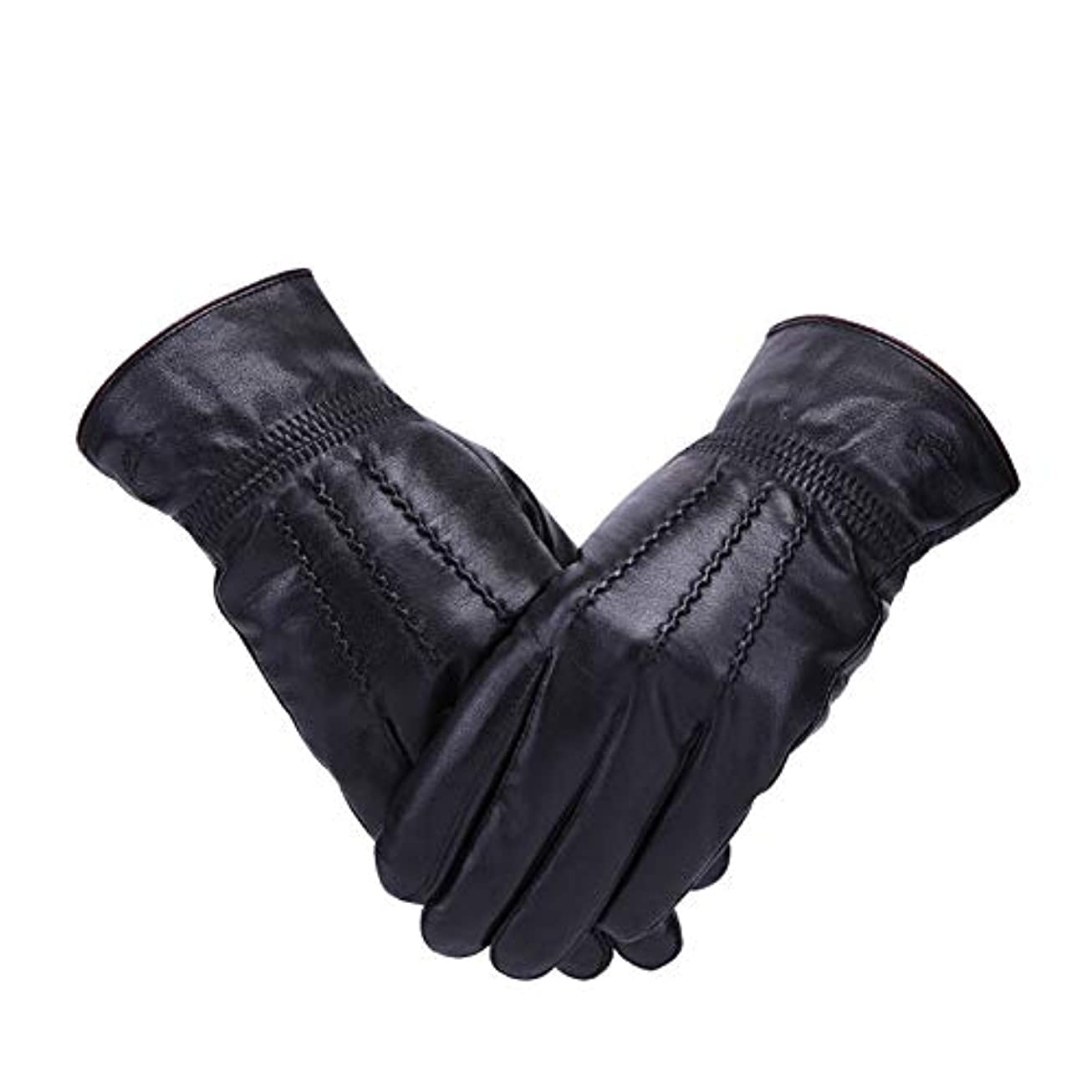 深めるワンダー書誌メンズグローブ - ウィンタープラスカシミア暖かい防風性のあるサイクリングを駆動する防水スタイリッシュな新ビジネス CONGMING (色 : Men's gloves - black, サイズ さいず : XL)