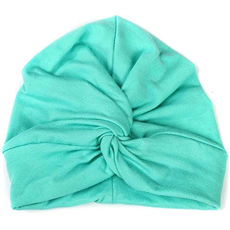 ドアミラーいたずら儀式Hairpinheair YHMベイビーハットコットンソフトターバンノットサマーボヘミアンキッズガールズ新生児キャップ(イエロー) (色 : Light Green)