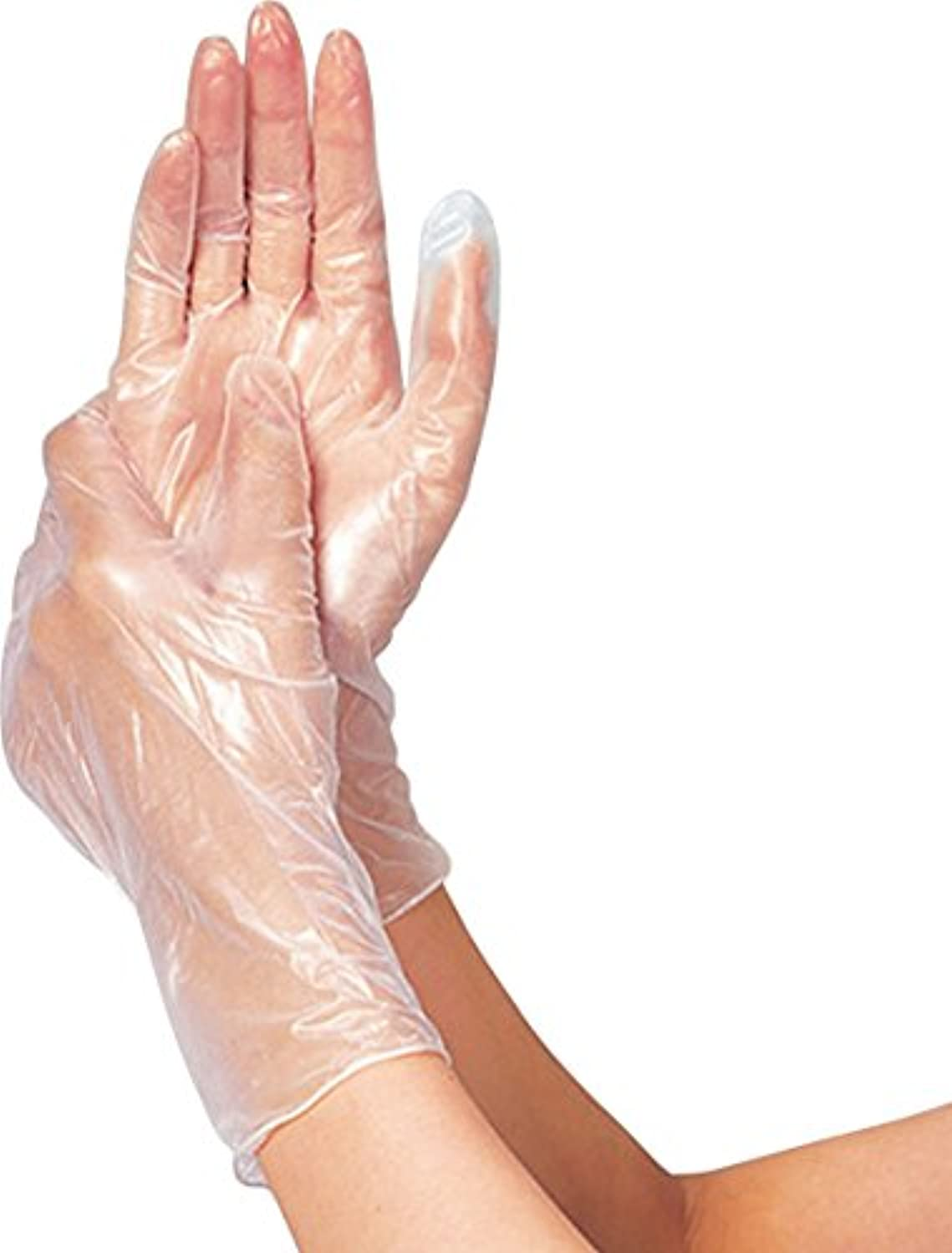クルーズ病マーキングタケトラプラスチック手袋200パウダーフリーL200枚 075884 竹虎メディカル