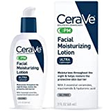 CeraVe PM Facial Moisturizing Lotion | Night Cream with Niacinamide and Hyaluronic Acid | Ultra-Lightweight, Oil-Free Moistur