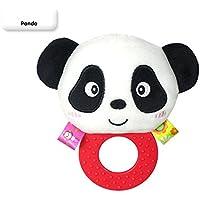 パンダBaby Rattle Hand Bell Toys Plush早期教育開発トイソフトRattle 0ヶ月以上のおもちゃ