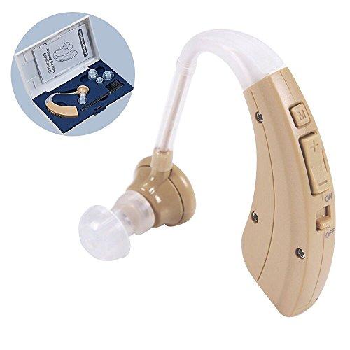 耳かけタイプの集音器 補聴器(軽度難聴者用)拡聴器 イヤホン 雑音抑え 音声はクリア 目立たない イヤホンキャップ大小3種 目立たない プレゼント