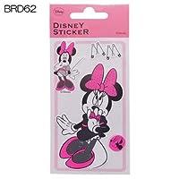 ミニーマウス[ステッカー]貼って剥がせるデコステッカー ピンクリボン ディズニー BRD62 おまとめセット【3個】