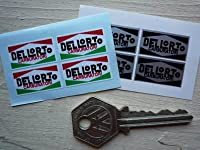 Carburatori Dellorto Sticker black&silver デロルト ロゴ ステッカー シール デカール ブラック&シルバー 海外限定 25mm x 13mm 4枚セット [並行輸入品]