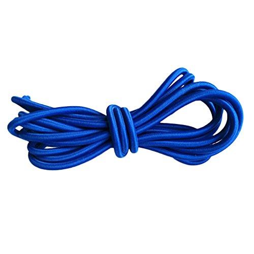 Sharplace 5mm 青 弾性ゴム バンジー  ロープ ショック コード タイ ボート UV 安定 全9サイズ - 青, 300cm