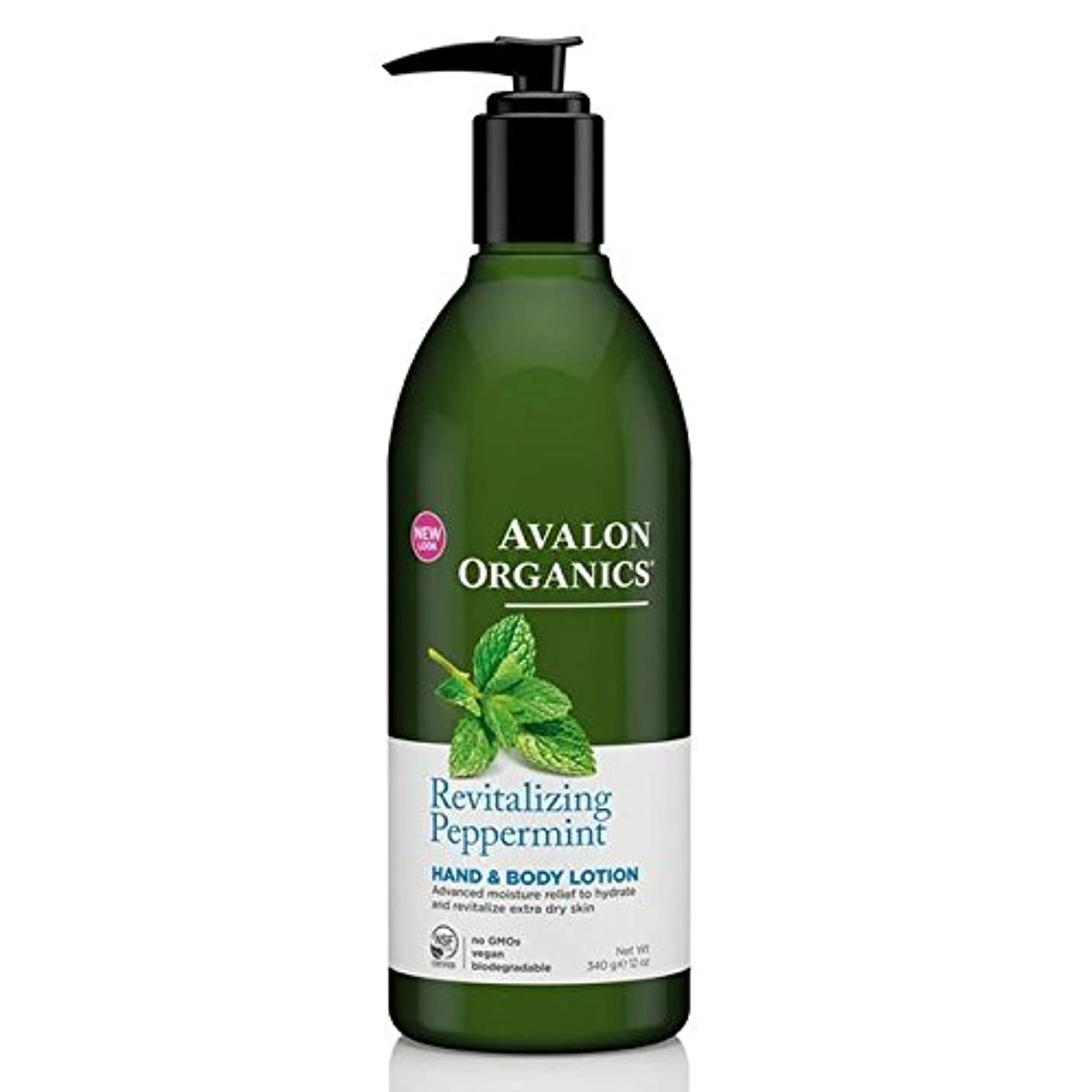 リファイントロリーバス読み書きのできないAvalon Peppermint Hand & Body Lotion 340g - (Avalon) ペパーミントハンド&ボディローション340グラム [並行輸入品]