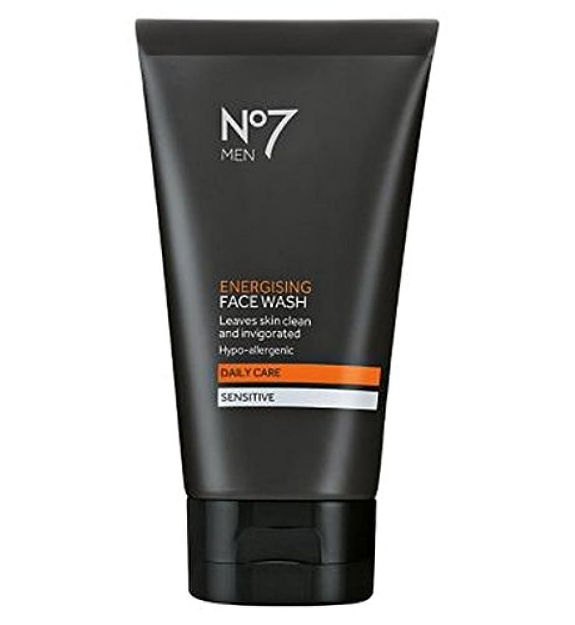 修正する偏心食器棚洗顔料の150ミリリットルを通電No7の男性 (No7) (x2) - No7 Men Energising Face Wash 150ml (Pack of 2) [並行輸入品]