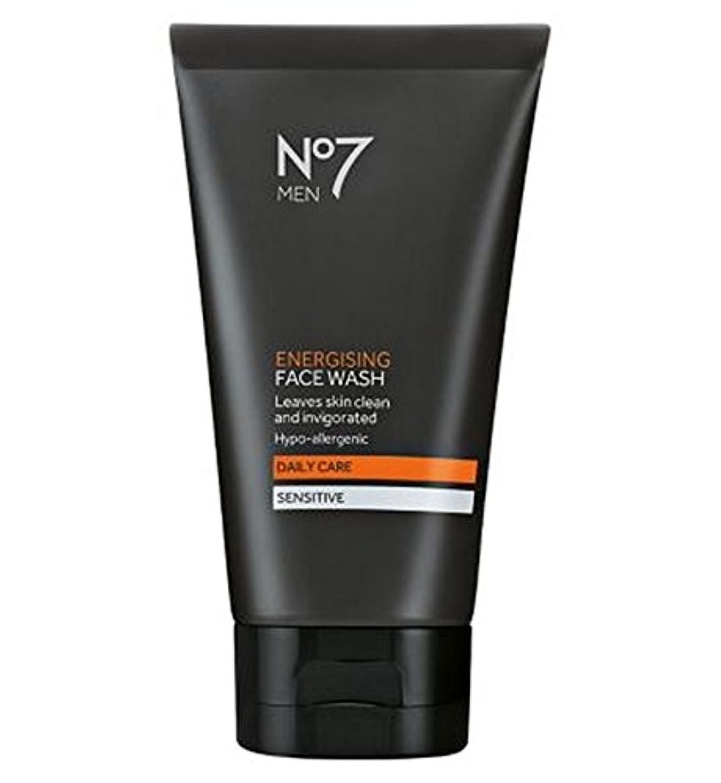 最初に抜粋封筒洗顔料の150ミリリットルを通電No7の男性 (No7) (x2) - No7 Men Energising Face Wash 150ml (Pack of 2) [並行輸入品]