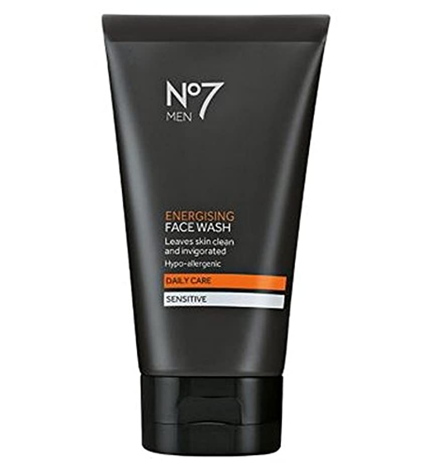 部分によると座る洗顔料の150ミリリットルを通電No7の男性 (No7) (x2) - No7 Men Energising Face Wash 150ml (Pack of 2) [並行輸入品]