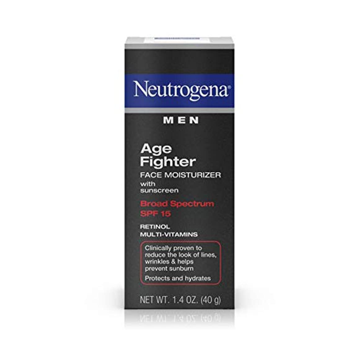 ステンレスいいね着実にNeutrogena Men Age Fighter Face Moisturizer with sunscreen SPF 15 1.4oz.(40g) 男性用ニュートロジーナ メン エイジ ファイター フェイス モイスチャライザー