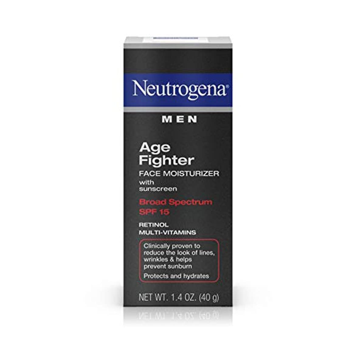 Neutrogena Men Age Fighter Face Moisturizer with sunscreen SPF 15 1.4oz.(40g) 男性用ニュートロジーナ メン エイジ ファイター フェイス モイスチャライザー