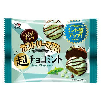 不二家 Withチョコカントリーマアム(超チョコミント)1箱(10袋)