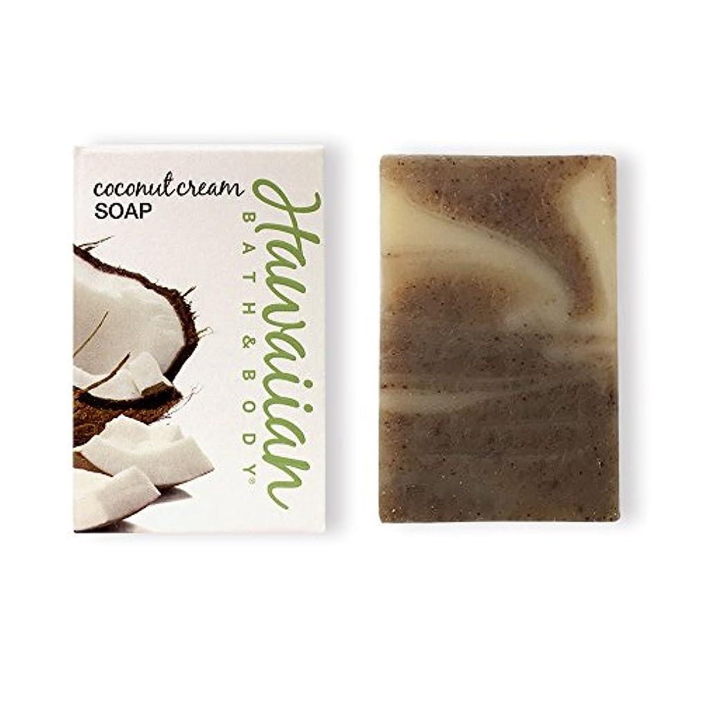 材料起きている雷雨ハワイアンバス&ボディ ココナッツクリームソープ ( Coconut Soap )