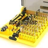 45in1精密ドライバーセットAC6089A(延長バー、グリップ付き)工具セット/トルクス(穴無し)ヘクスローブ/ソケット/六角棒/Y型/三角ビット/五角/ペンタローブ/プラス/マイナス